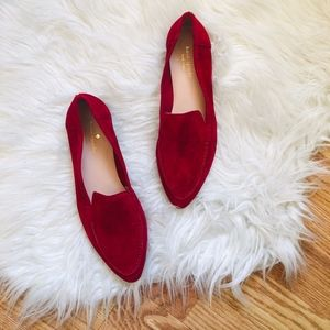 NEW Kate Spade Red Suede Loafers 7.5